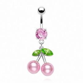 Piercing nombril Cerise Perles