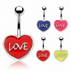 Piercing nombril Cœur LOVE