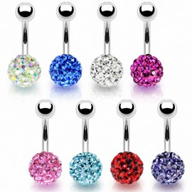 Piercing nombril Multi Crystal Férido