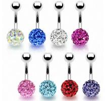 Piercing nombril Multi Crystal Swarovski