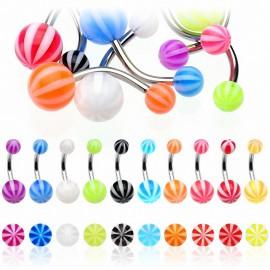 Piercing nombril Acier Boules Candy