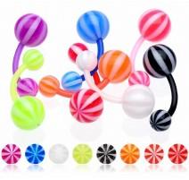 Piercing nombril Bioflex Boules Candy