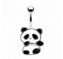 Piercing nombril acier Panda