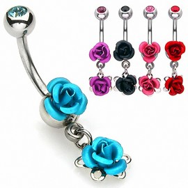 Piercing nombril Double Roses