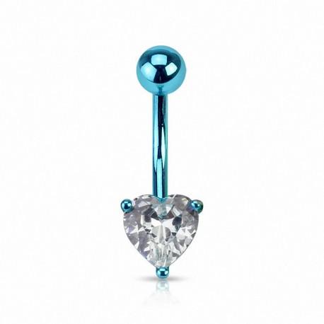 Piercing nombril Néon Titanium Coeur