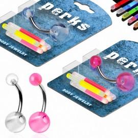 Pack Piercing Nombril Phosphorescents