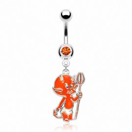 Piercing nombril Bébé Diable Orange