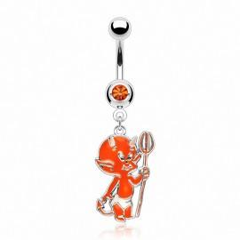 Piercing nombril Bébé Diable Orange
