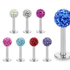 Piercing Labret Multi Crystal Ferido