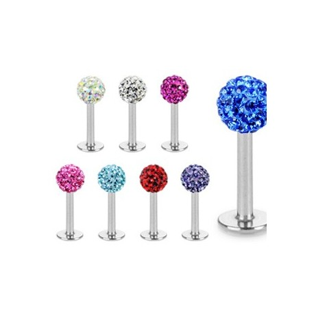 Piercing Labret Multi Crystal Ferido - Bijou Piercing Labret