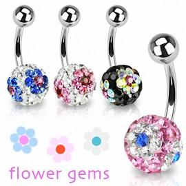Piercing nombril Crystal Ferido Fleurs