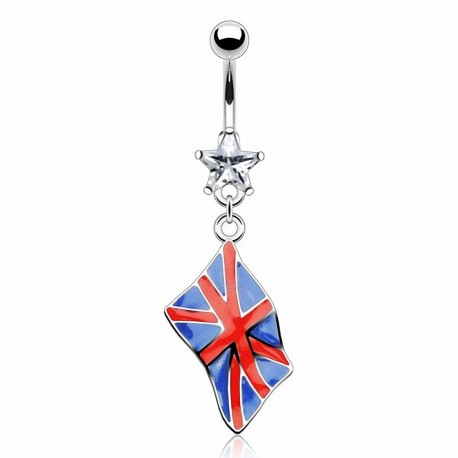 Piercing nombril Drapeau Royaume-Uni