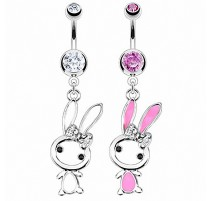 Piercing nombril Acier Chirurgical Lapin