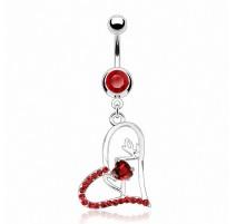 Piercing nombril Pendentif Coeur LOVE