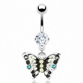 Piercing nombril Acier Chirurgical Pendentif Papillon