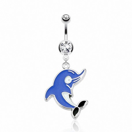 Piercing nombril Pendentif Dauphin Cartoon