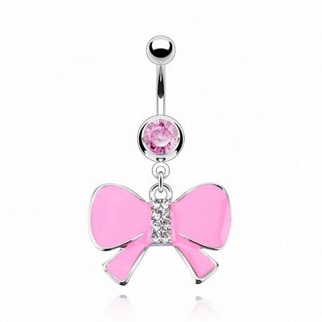 Piercing nombril Acier Pendentif Noeud Papillon