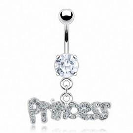 Piercing nombril Acier Chirurgical Pendentif Princess