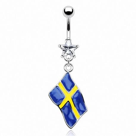 Piercing nombril Drapeau Suède