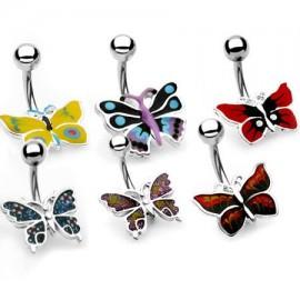 Piercing nombril Papillon