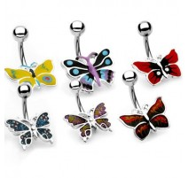 Piercing nombril Papillon bleu