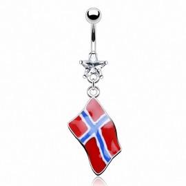 Piercing nombril Drapeau Norvège