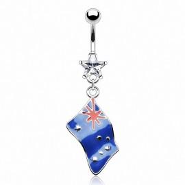 Piercing nombril Drapeau Australie