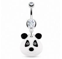 Piercing nombril Pendentif Panda Argile Durcie