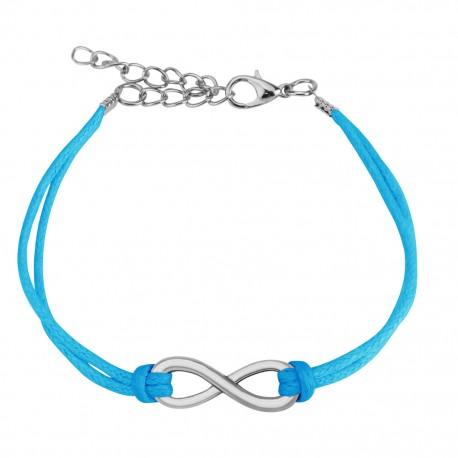 Bracelet similicuir symbole infini