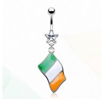 Piercing nombril Drapeau Irelande