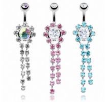 Piercing nombril Strass Chaine de Gemme