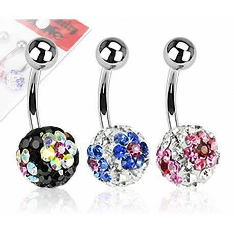 Lot de 3 Piercing nombril Crystal Férido Fleurs