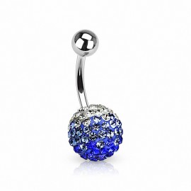 Piercing nombril Multi Cristaux Ferido