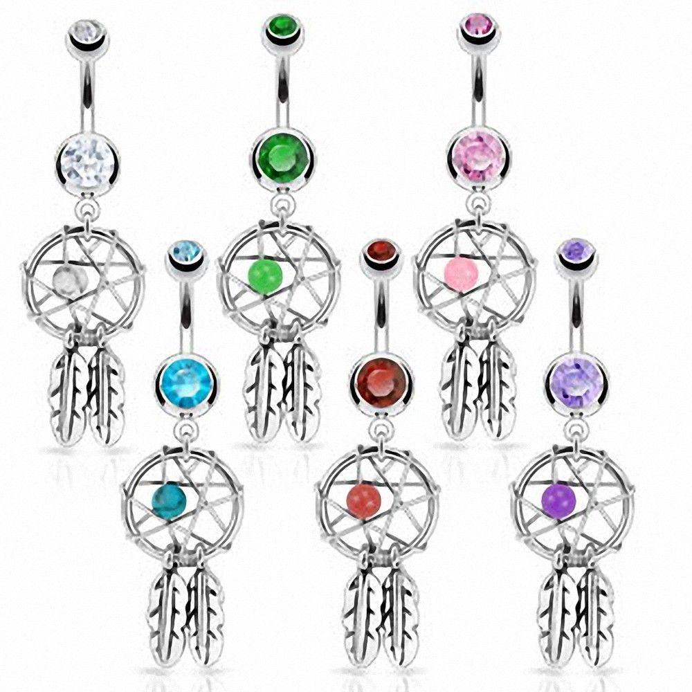 piercing nombril attrape r ves piercing dreamcatcher pendentif. Black Bedroom Furniture Sets. Home Design Ideas