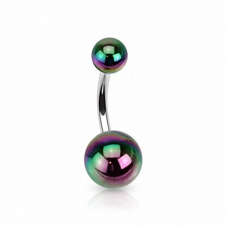 piercing nombril boules acrylique m talliques. Black Bedroom Furniture Sets. Home Design Ideas