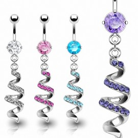 Piercing nombril Serpentin Strass