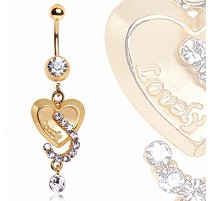 Piercing Nombril Plaqué Or Coeur Lovely