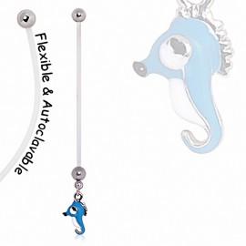 Piercing nombril de grossesse Hippocampe