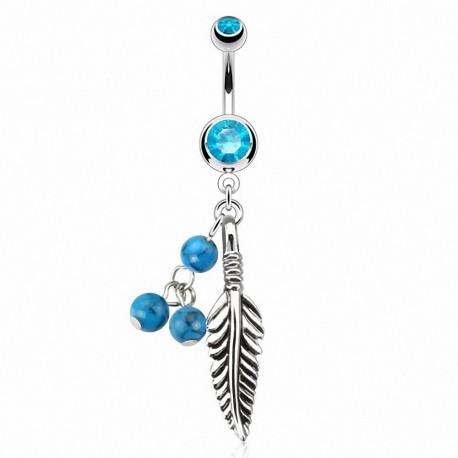 Piercing nombril Attrape Rêve Turquoise
