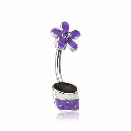 Piercing nombril Pot de Fleur