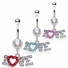Piercing nombril coeur love