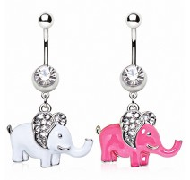 Piercing nombril éléphant