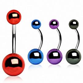 Piercing nombril Boules Métalliques