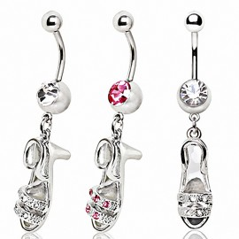 Piercing nombril chaussure talon