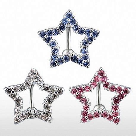 Piercing nombril inversé étoile