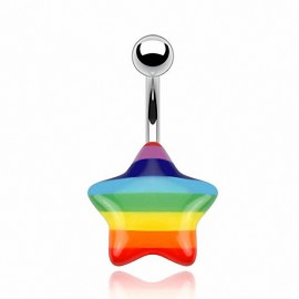 Piercing nombril étoile gay pride
