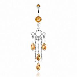 Piercing nombril perles facettes