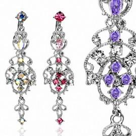 Piercing nombril inversé chandelier
