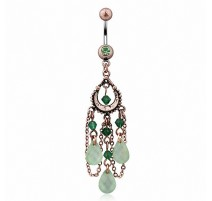 Piercing nombril vintage jade