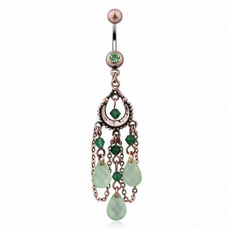 Piercing nombril vintage jade